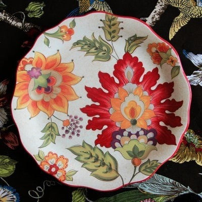 French Country Ceramic Decorative Salad Plate-Loluxe