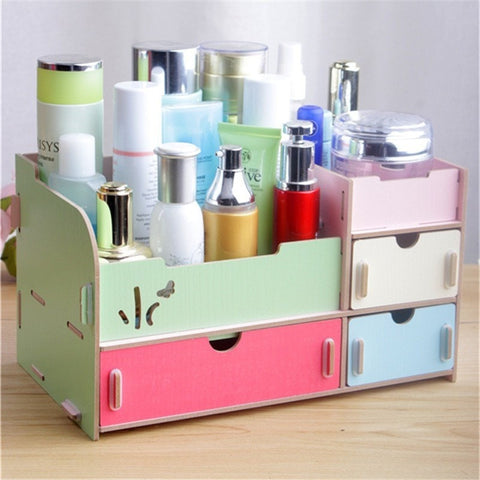 Fresh Modern Simple Creative DIY Wood Vanity/Desk Organizer-Loluxe