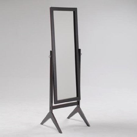 Full Length Cheval Mirror in Espresso Finish-Accents > Mirrors-Loluxe