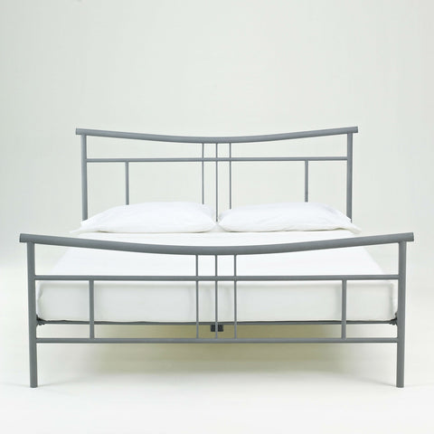 Full size Modern Metal Platform Bed Frame with Headboard and Footboard-Bedroom > Bed Frames > Platform Beds-Loluxe