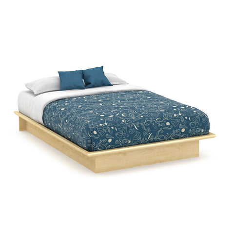 Full size Modern Platform Bed Frame in Natural Maple Finish-Bedroom > Bed Frames > Platform Beds-Loluxe