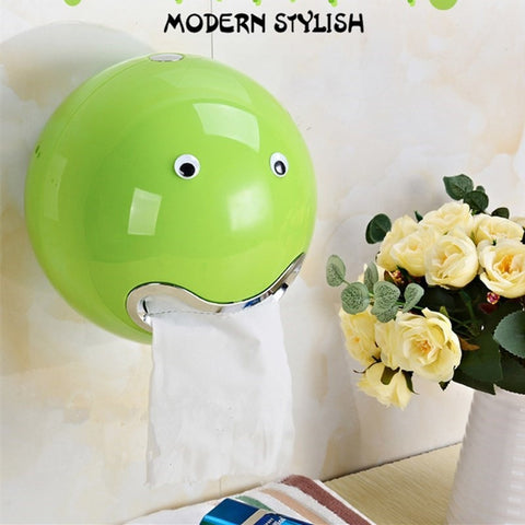 Fun Creative Vibrant Color Spherical Smiley Face Toilet Paper/Tissue Holder 8 Colors-Loluxe
