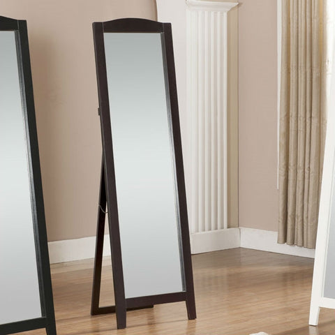 Functional Classic Full Length Leaning Floor Mirror with Black Frame-Accents > Mirrors-Loluxe