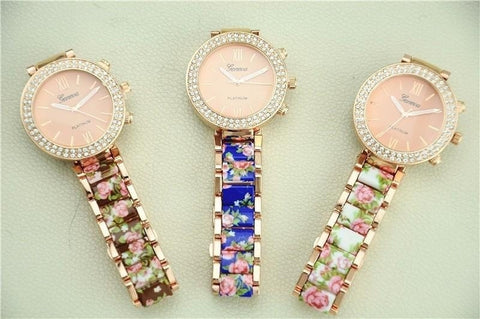 Geneva Fashion Women Ceramic Bracelet Watch-Loluxe
