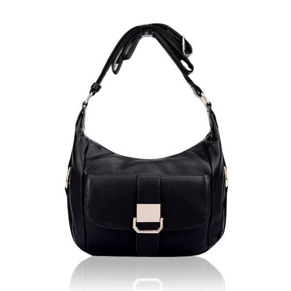 Genuine Leather Pebbled Beckled Women Crossbody Bags Handbags Shoulder Bags-Handbags-Loluxe