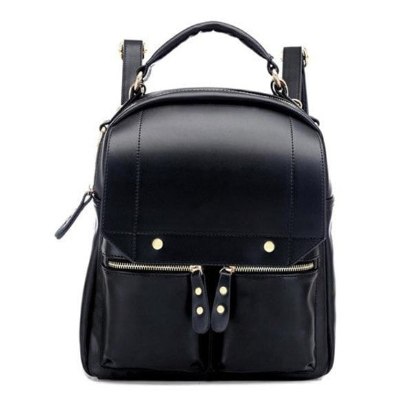 Girls Pu Leather Schoolbag Backpack-Handbags-Loluxe