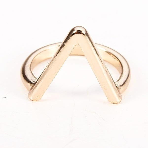 Gold Silver Plated V Shape Arrow Shape Knuckle Finger Ring-Loluxe