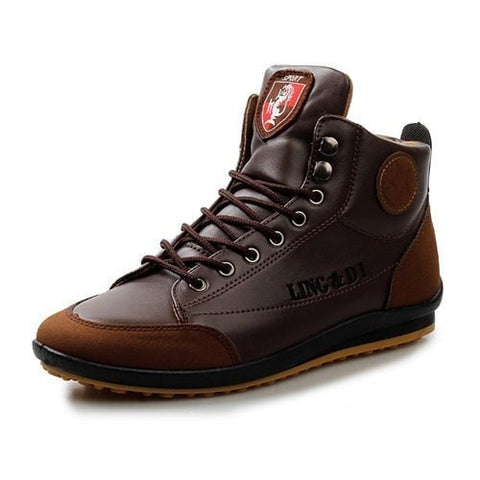 Handmade Fashion Men's Soft Leather Casual Boots 3 Colors-Loluxe