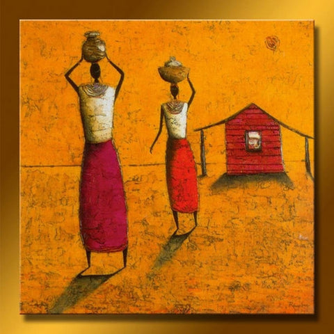 Handpainted Modern Abstract Oil Paintings African Women-Loluxe