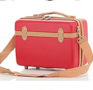 "High Fashion Vintage-Style 13"" Cosmetic Travel Luggage Case 3 Colors-Loluxe"