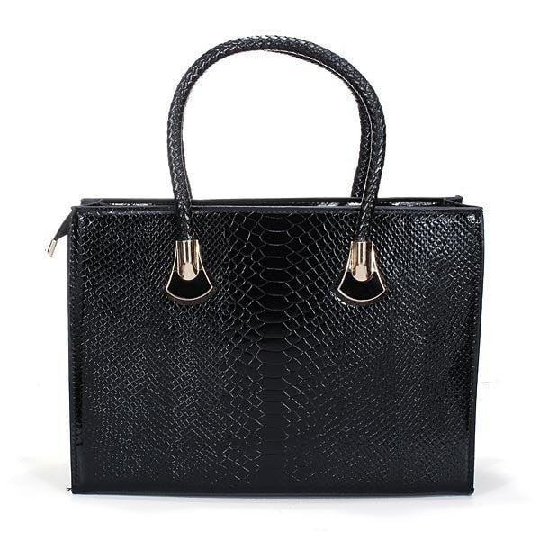 High Quality Fashionable Women's Crocodile Pattern PU Leather Shoulder Bag/Tote-Handbags-Loluxe