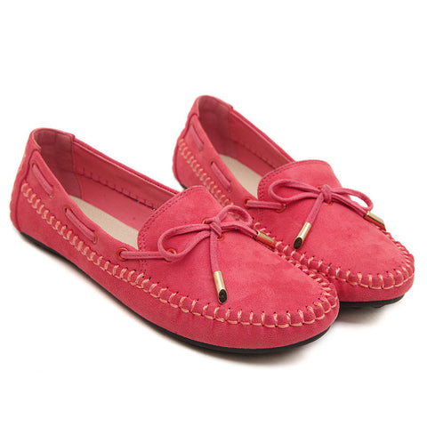 High- Quality Genuine Leather Casual Suede Women's Slip-On Comfortable Flat Shoes 4 Colors-Loluxe
