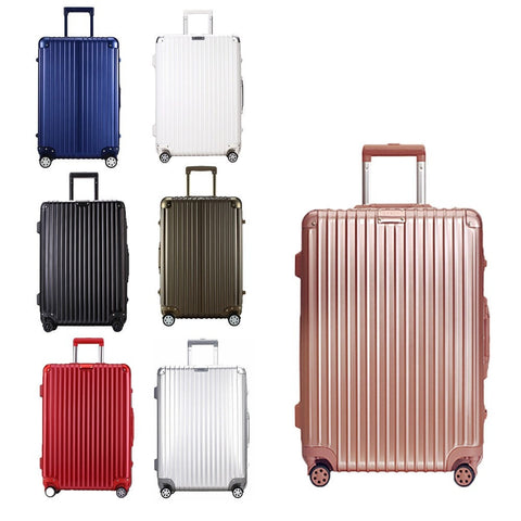 High-Quality NEW Universal Wheel Aluminum Alloy Rod Trolley Hardside Luggage 7 Colors-Loluxe