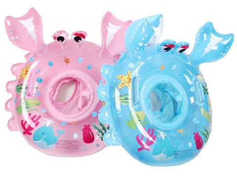 High Quality PVC Crabby Character Good Fit Infant Pool Ring 2 Sizes 3 Colors-Loluxe