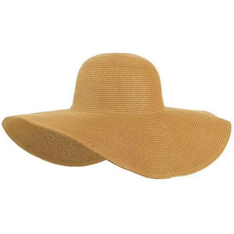 Hot Fashion Foldable Wide-Brim Floppy Summer Straw Hat 7 Colors-Loluxe