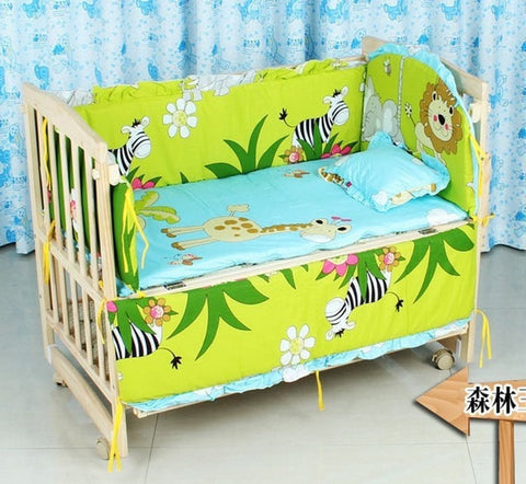 In the Jungle 10-PC Designer Print 100% Cotton Quilt Baby Nursery Set-Loluxe