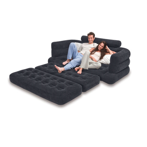 Inflatable Sleeper Sofa Pull-Out Air Bed with Built-in Armrest-Living Room > Sofas-Loluxe