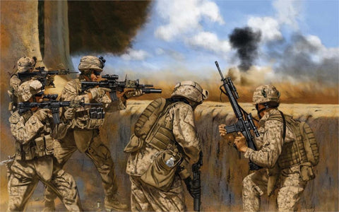 Iraq Soldiers Army USA Cavas Poster Print Wall Decor Canvas 4 Sizes-Loluxe
