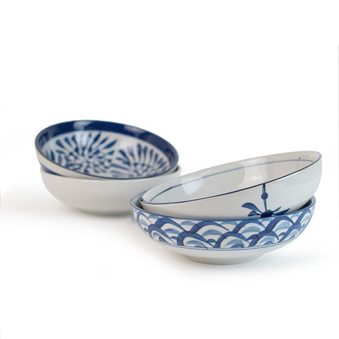 Japanese-style Large Deep Fish Ceramic Soup Bowl-Loluxe