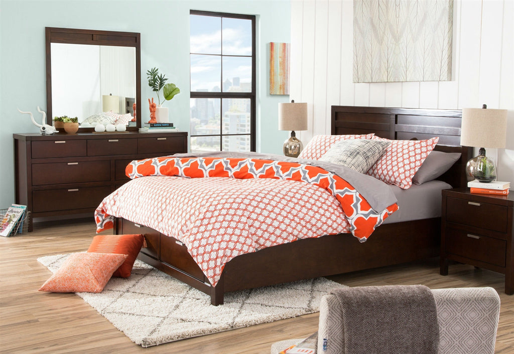 King size Orange Gray Fresh Start 3 piece Comforter Set-Bedroom > Comforters and Sets-Loluxe