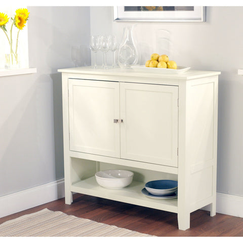 Kitchen Dining Storage Cabinet Sideboard Buffet in Antique White-Dining > Sideboards & Buffets-Loluxe