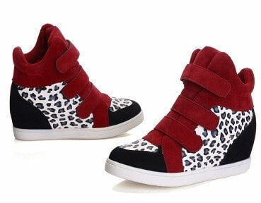 Ladies Fashion Canvas High-Top Sneakers 4 Colors-Loluxe