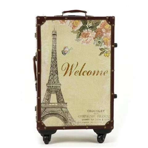 Ladies Fashion Designer Print Upright Durable European-Style Spinner Wheel High-Quality Luggage 5 Sizes-Loluxe