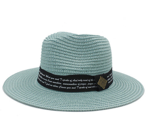Ladies Seaside Color Fedora-Style Straw Summer Beach Hat 4 Colors-Loluxe