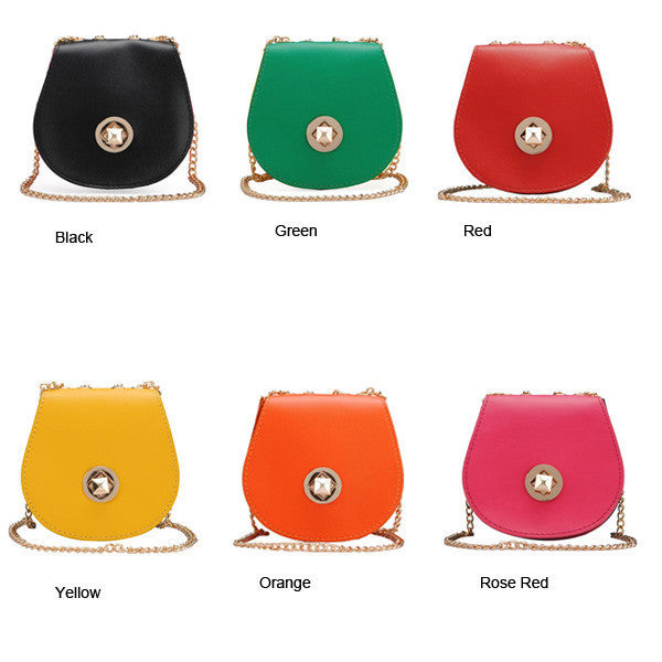 Ladies Small Candy Color Cross Body Bag-Handbags-Loluxe