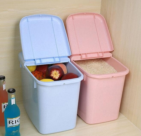 Large Candy Colored Kitchen Preservative Storage Food Container, etc. Pink or Blue-Loluxe