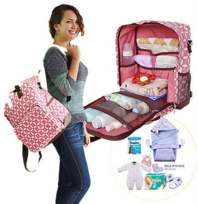 Large Capacity Waterproof Multifunctional Designer Print Diaper Bag 4 Designs-Loluxe