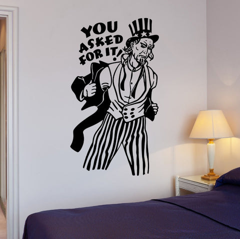 Large Funny Uncle Sam Creative Removable Vinyl Wall Decal-Loluxe