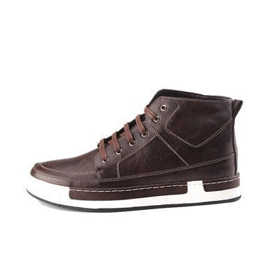 Leather High-Top Retro-Style Casual Comfortable Men's Boot Shoes 2 Colors-Loluxe