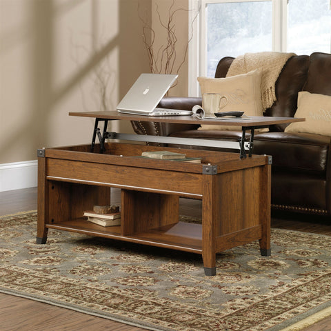 Lift-Top Coffee Table in Cherry Wood Finish-Living Room > Coffee Tables-Loluxe