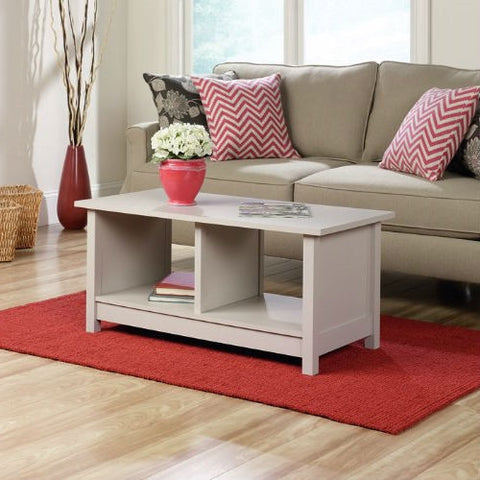 Light Grey Taupe Off-White Cocktail Coffee Table-Living Room > Coffee Tables-Loluxe
