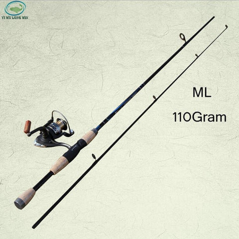 LongWin 1.8m Straight Fishing Rod ML Power 2 peice Fishing Rod-Loluxe