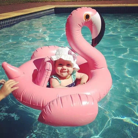 Lovely Inflatable Toddler Swan Swimming Pool Ring w/Seat Pink or White-Loluxe