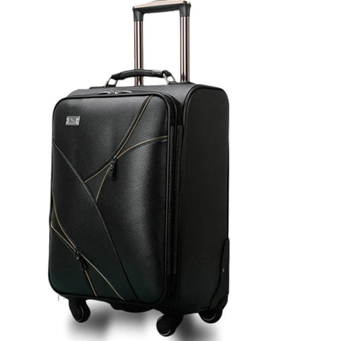 Luxury PU Leather Universal Wheel High-Quality Designer Luggage 2 Colors 4 Sizes-Loluxe