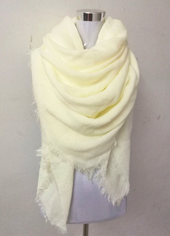 Luxury Soft Warm Cashmere Large Wrap Fashion Scarf 11 Colors-Loluxe