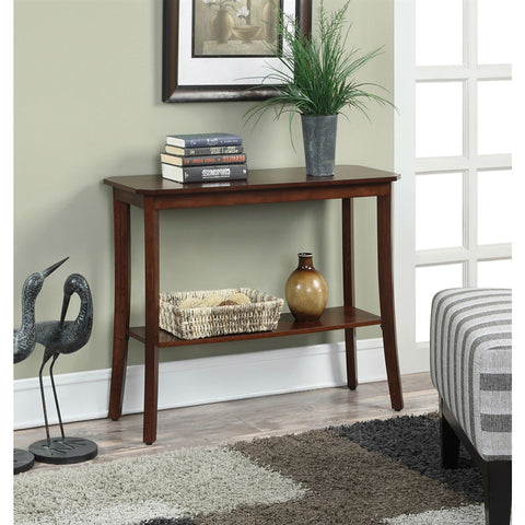 Mahogany 2 Tier Console Table-Living Room > Console & Sofa Tables-Loluxe