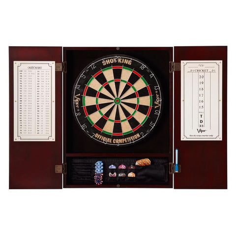 Mahogany Finish Dartboard Cabinet - Dartboard Not Included-Game Room > Dart Boards-Loluxe