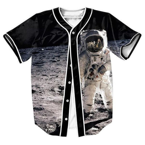 Men's Baseball-Style Man On The Moon Casual Jersey S-3XL-Loluxe