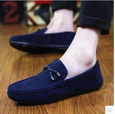 Men's Comfortable Slip-On Leather Suede Loafer Shoes 3 Colors-Loluxe