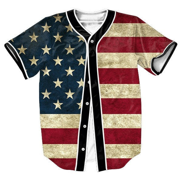 Men's Fashion American Flag Baseball-Style Top S-3XL-Loluxe