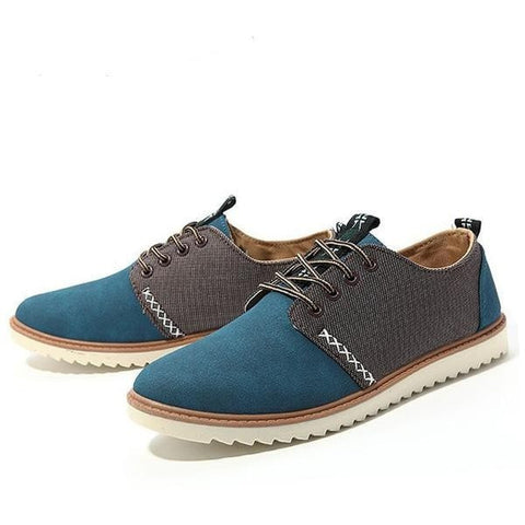 Men's Fashion Genuine Leather Suede Casual Shoes 3 Colors-Loluxe