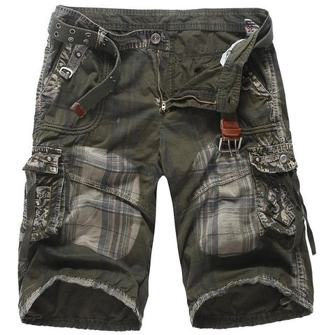Men's Fashion Patchwork Tactical Cargo Summer Shorts Sizes 29-38 Three Colors