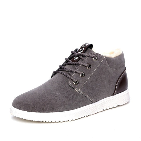 Men's Fashion Suede Warm Lined Casual Shoes 3 Colors-Loluxe