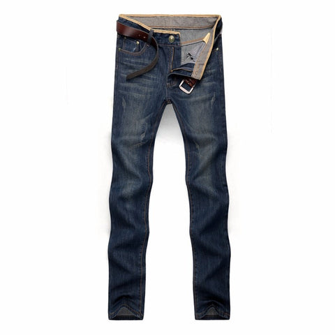 Men's Quality Brand Straight Leg Denim Jeans 29-42 Two Colors-Loluxe