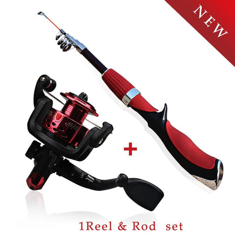 Mini Portable Carbon Telescopic Travel Sea Rock Fishing Rods Spinning Fishing Pole-Loluxe