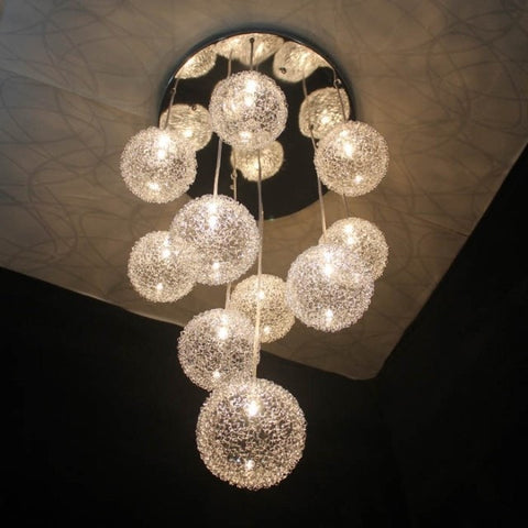 ,Modern Aluminium Wire Ball Pendant Lights 10 Lights Hang lamp Led Pendant Lamp Fixtures ,-Loluxe